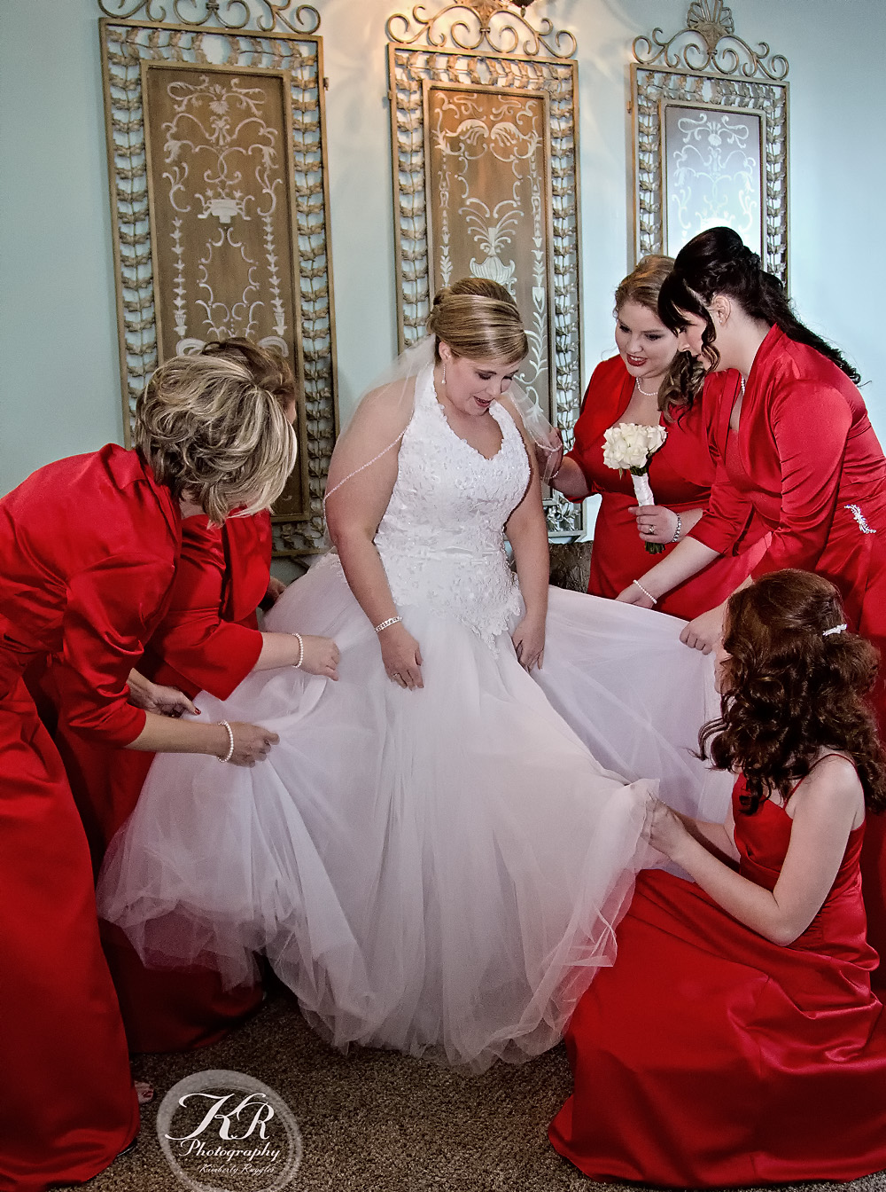 Bridal party touch up, KRphotography weddings